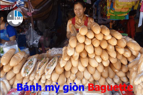 .Bánh mỳ giòn baguette