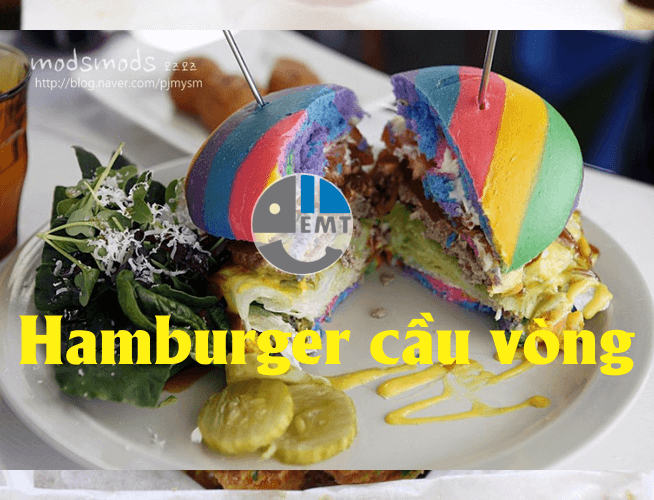 Hamburger cầu vồng